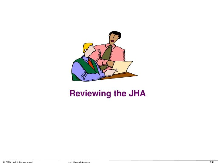 Reviewing the JHA