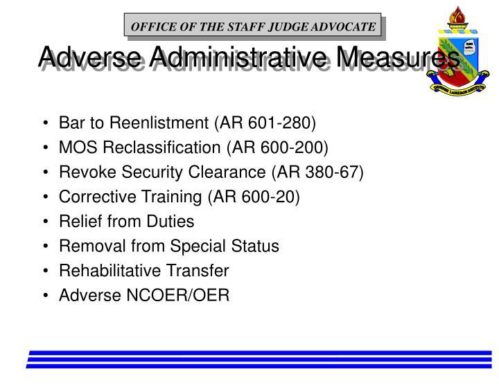 Adverse Administrative Measures