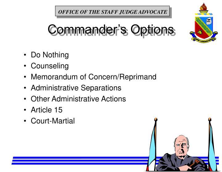 Commander's Options