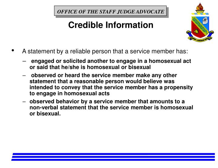 Credible Information