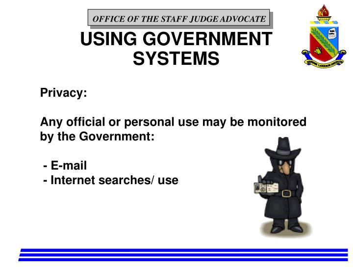 USING GOVERNMENT SYSTEMS