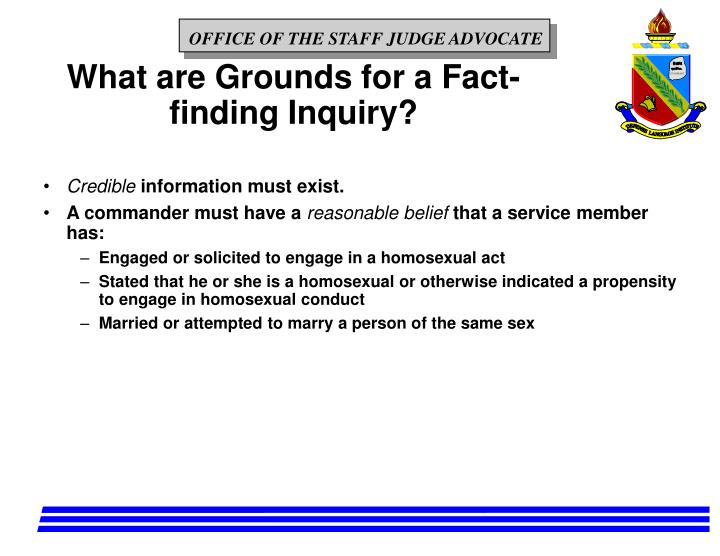 What are Grounds for a Fact-finding Inquiry?