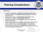 planning considerations9