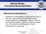 special needs functional based definition2