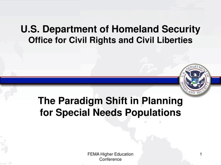u s department of homeland security office for civil rights and civil liberties n.