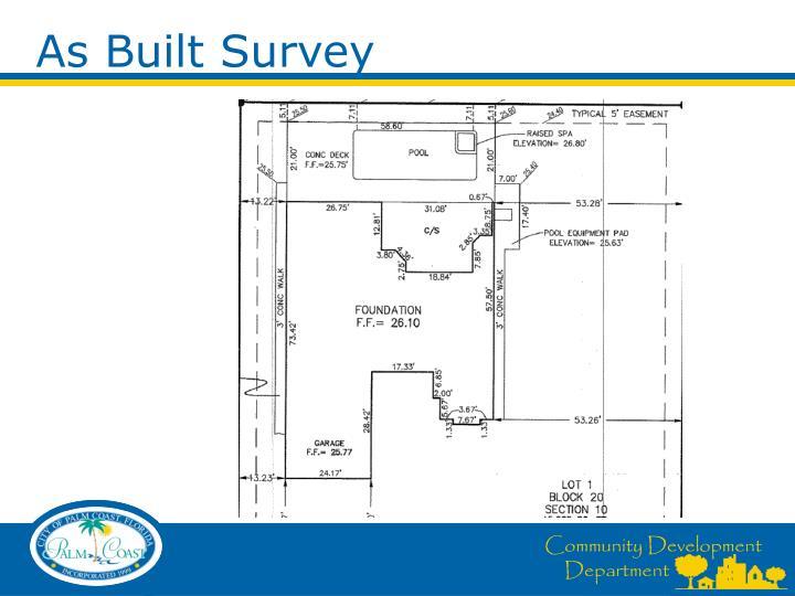 As Built Survey