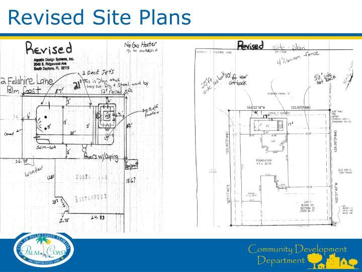 Revised Site Plans