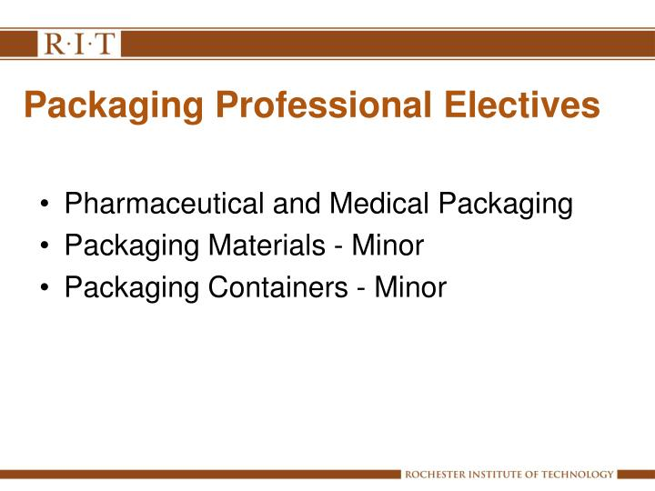 Packaging Professional Electives