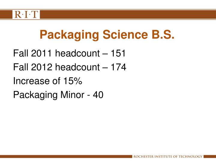 Packaging Science B.S.