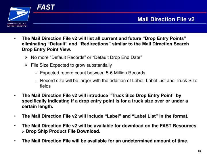 Mail Direction File v2