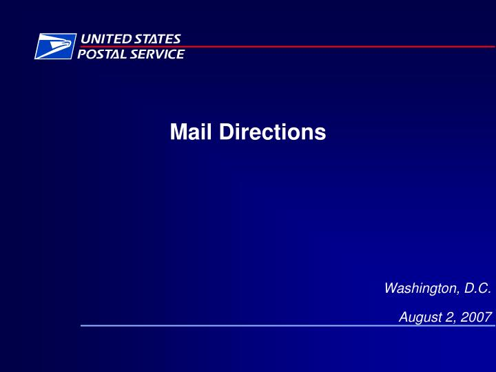 Mail directions