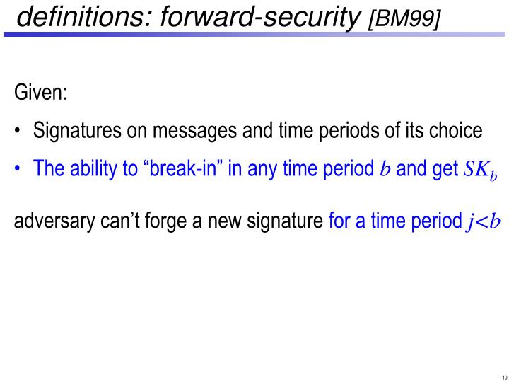 definitions: forward-security