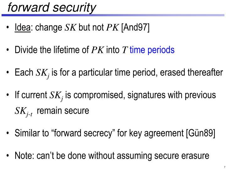 forward security