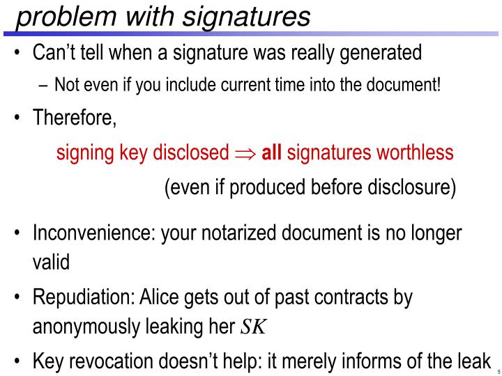 problem with signatures