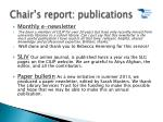 chair s report publications