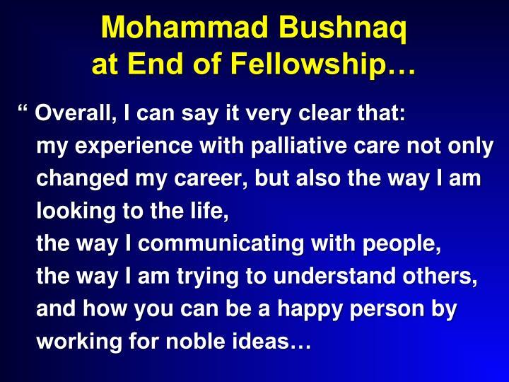Mohammad Bushnaq