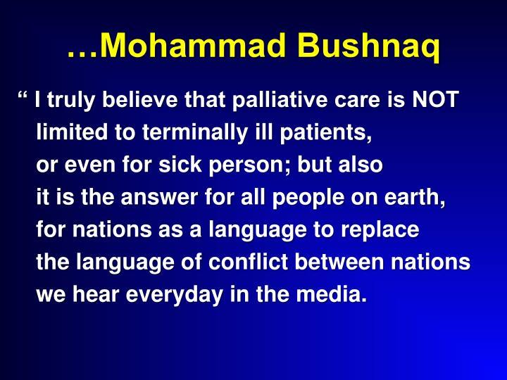 …Mohammad Bushnaq