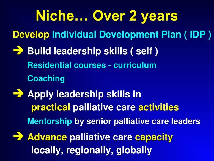 Niche… Over 2 years