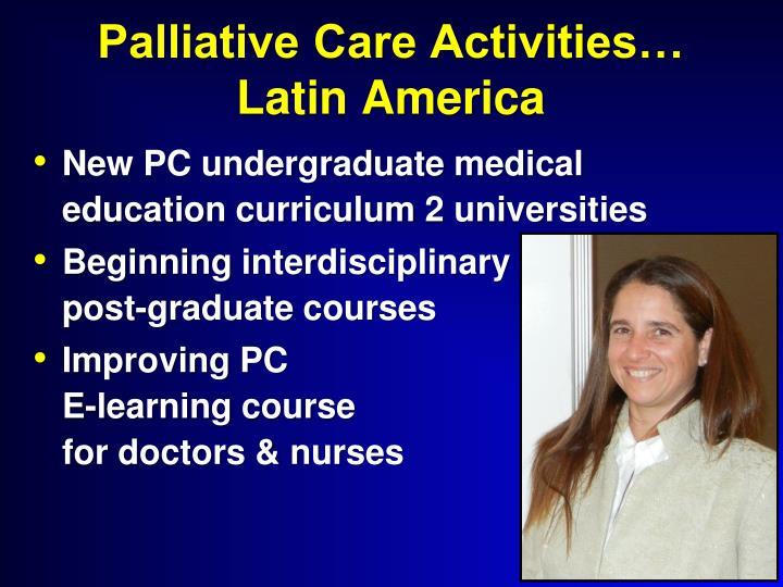 Palliative Care Activities…