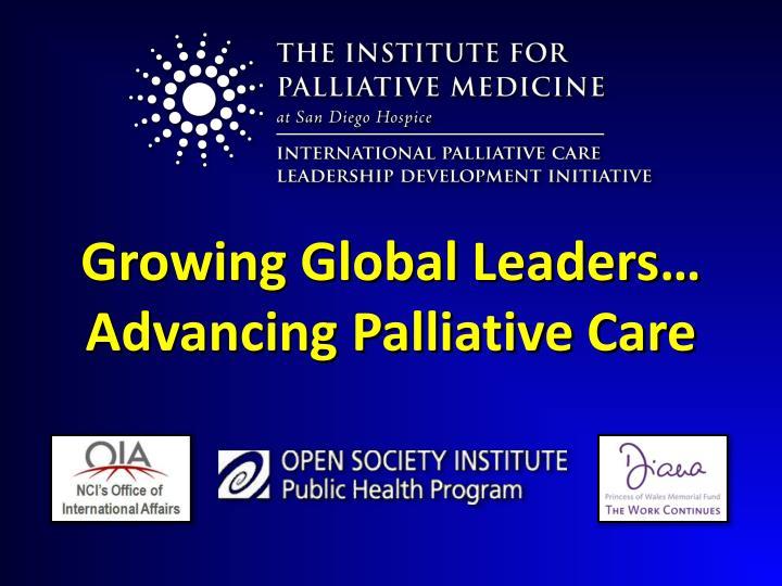 Growing Global Leaders…