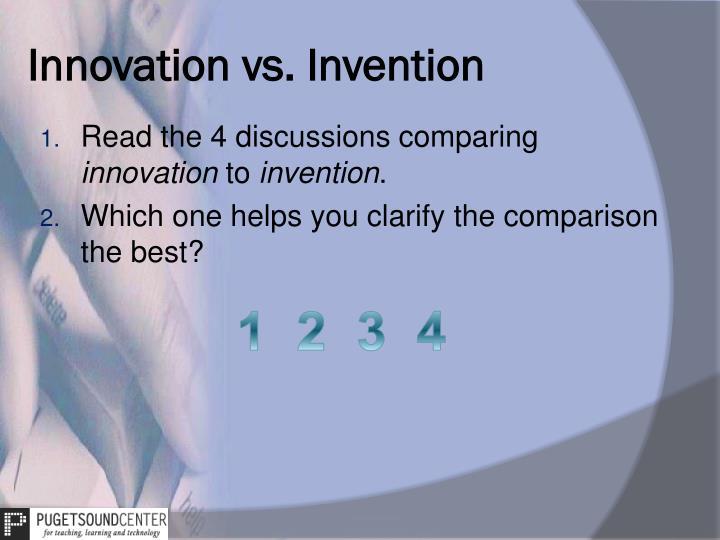 Innovation vs. Invention