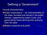 defining a government