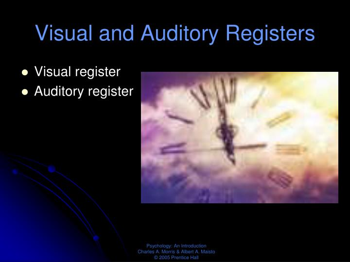 Visual and Auditory Registers