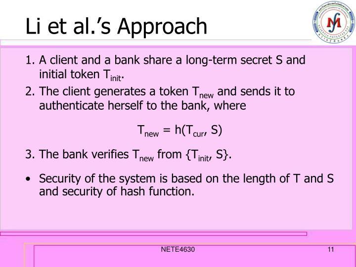 Li et al.'s Approach
