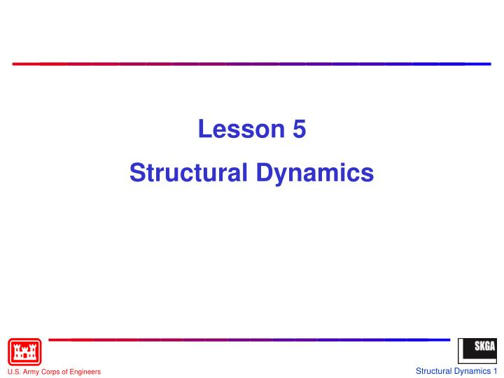 lesson 5 structural dynamics n.