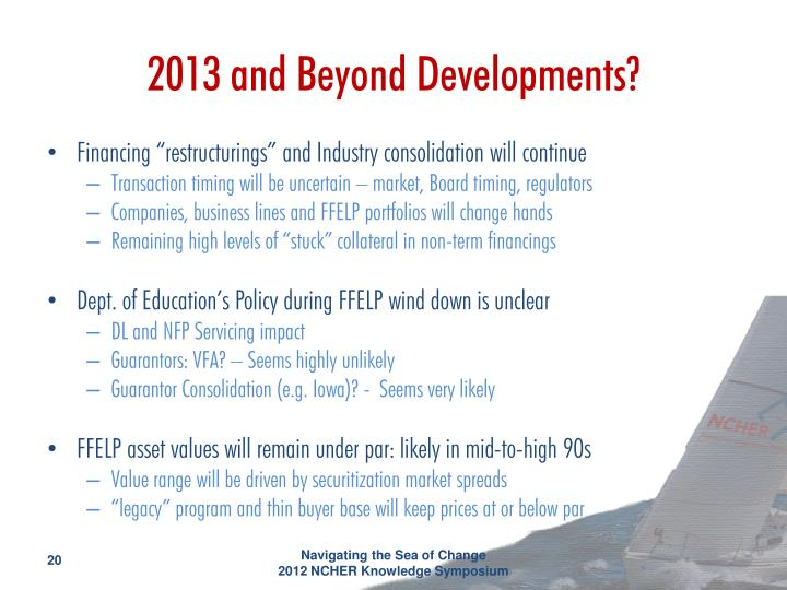 2013 and Beyond Developments