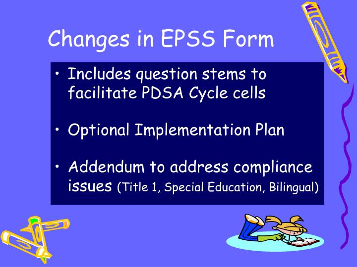 Changes in EPSS Form