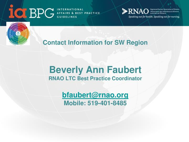 Contact Information for SW Region