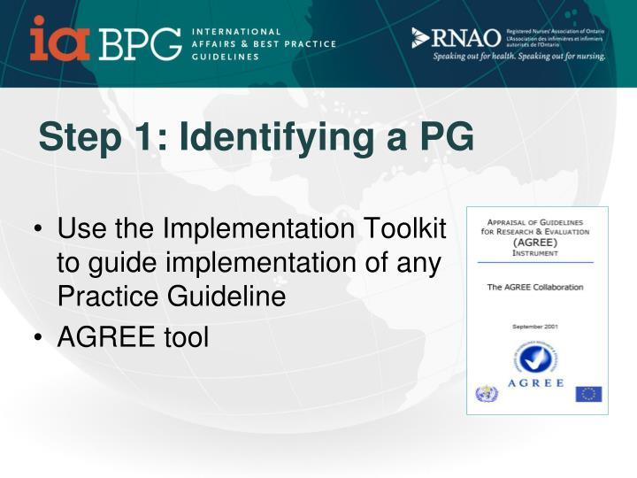Step 1: Identifying a PG