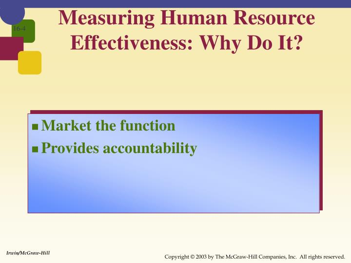 Measuring Human Resource Effectiveness: Why Do It?