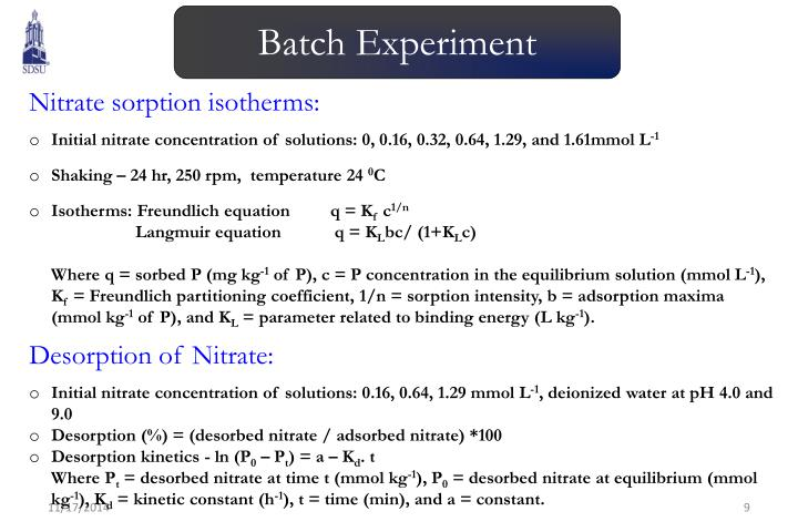 Batch Experiment