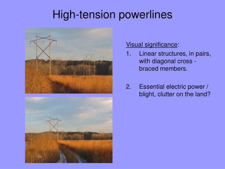 High-tension powerlines