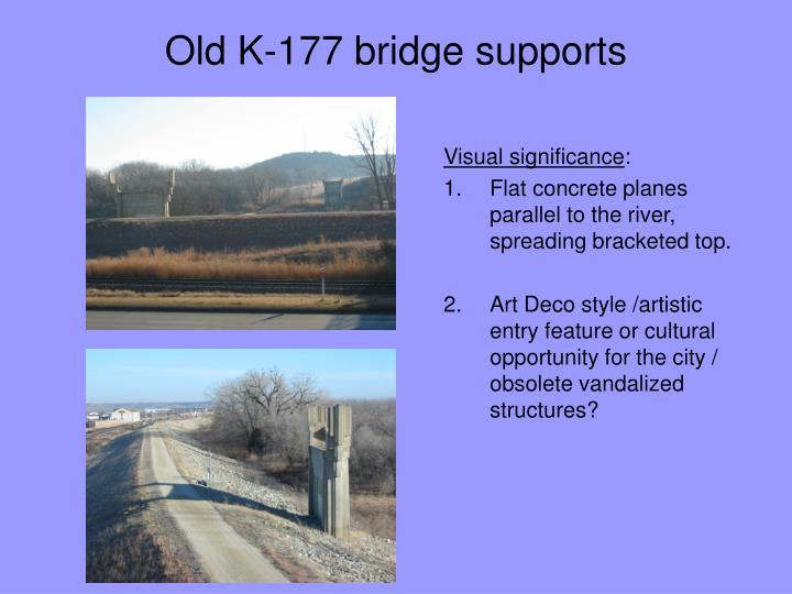 Old K-177 bridge supports