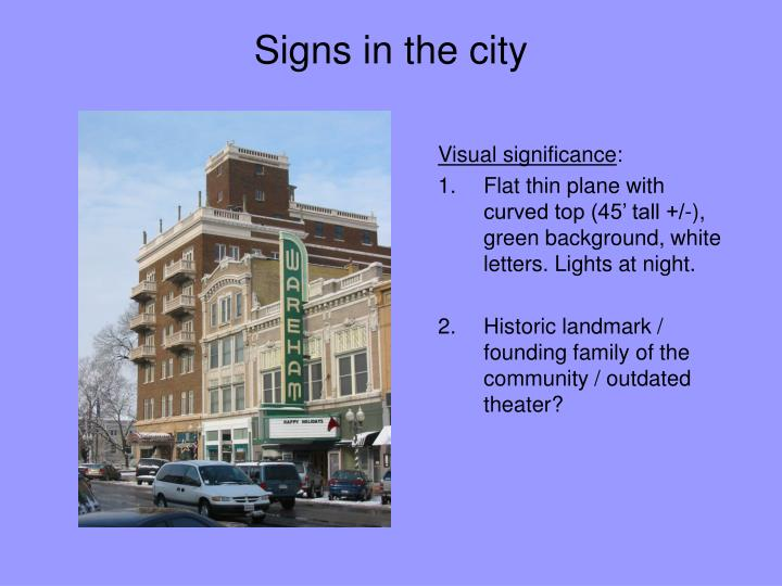 Signs in the city