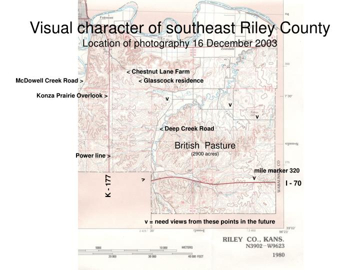 Visual character of southeast Riley County