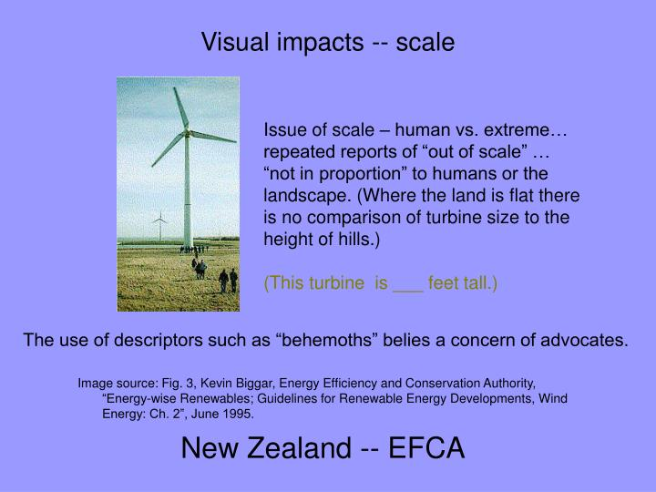 Visual impacts -- scale
