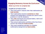 engaging numeracy across the curriculum refer to p 15 h s for complete lists