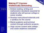 making ct courses intellectually demanding