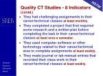 quality ct studies 8 indicators contd