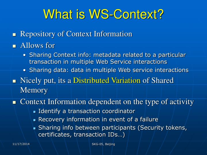 What is WS-Context?