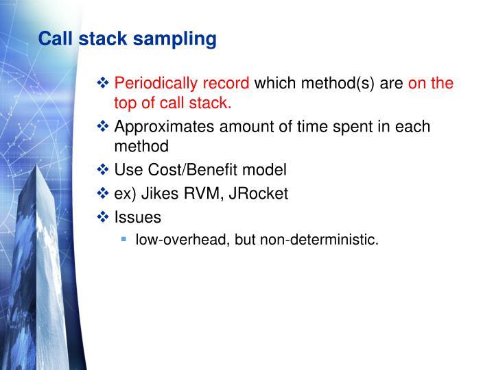 Call stack sampling