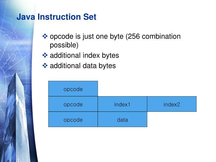 Java Instruction Set