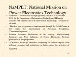 nampet national mission on power electronics technology