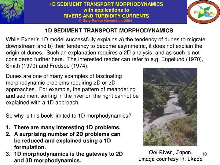 1D SEDIMENT TRANSPORT MORPHODYNAMICS