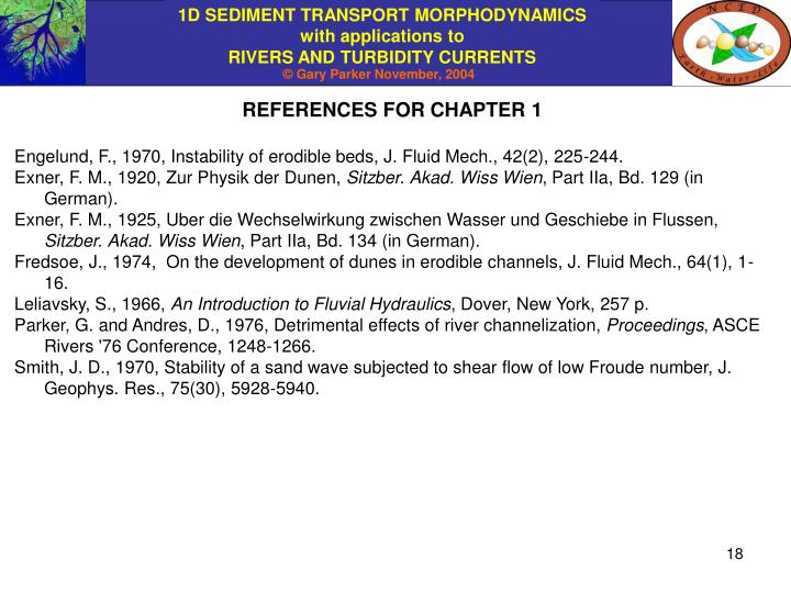 REFERENCES FOR CHAPTER 1