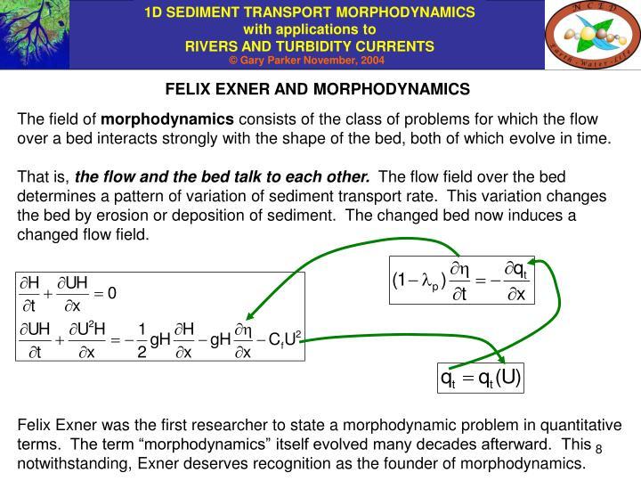 FELIX EXNER AND MORPHODYNAMICS